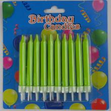 happy birthday cake candles long burning thin pillar