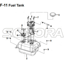 F-11 Fuel Tank for XS175T SYMPHONY ST 200i Spare Part Top Quality