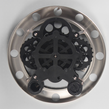 Black Stainless Steel Gear Wall Clocks