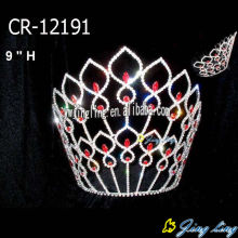 8 Inch Red Crystal Princess Bride Crowns