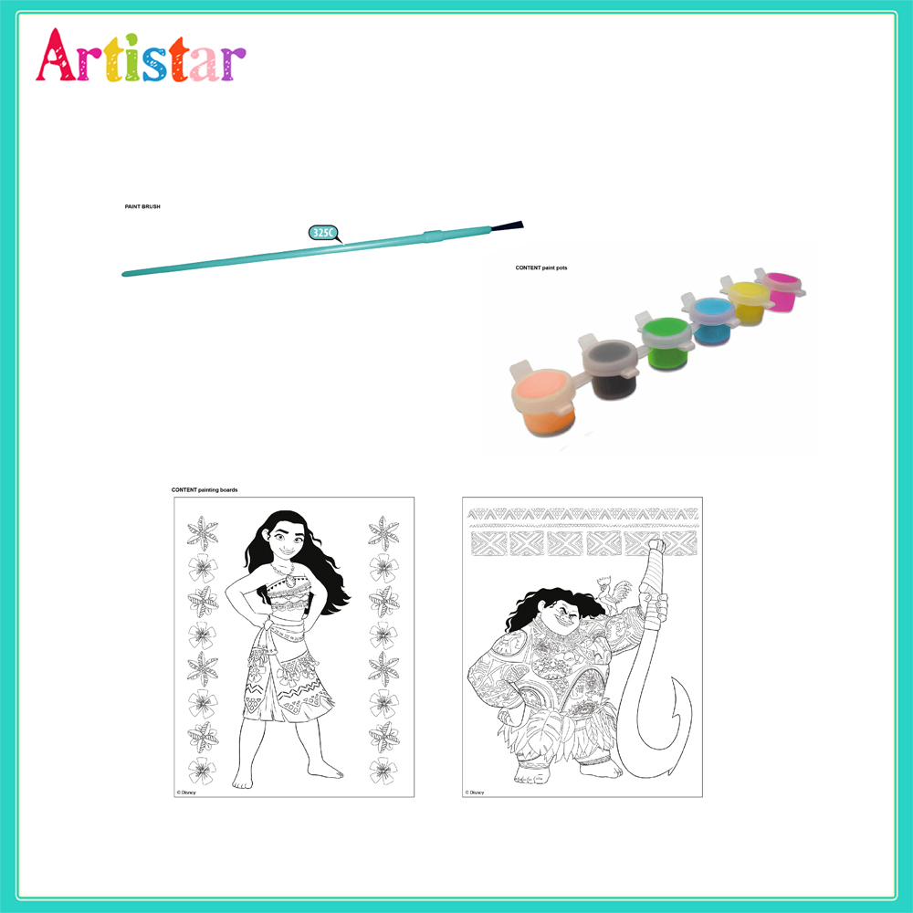 Disney Moana Vaiana Colouring Set 2