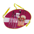6pcs BBQ set with grill tongs