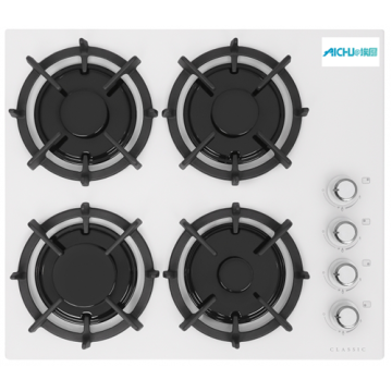 Gas Hobs Hephaestus White Colour