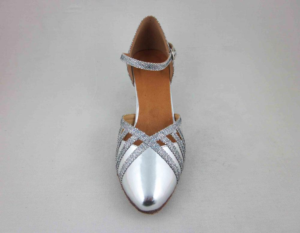 Silver Ballroom Shoes