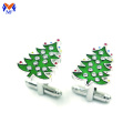 Metal diy christmas cufflink oem with crystal