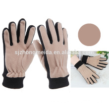 custom unisex embroidery fleece gloves