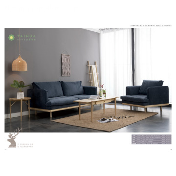 North America White Ash Sofa Itakda ang Solid Wood