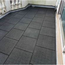 Outdoor Recycled rubber deck flooring tile lowes
