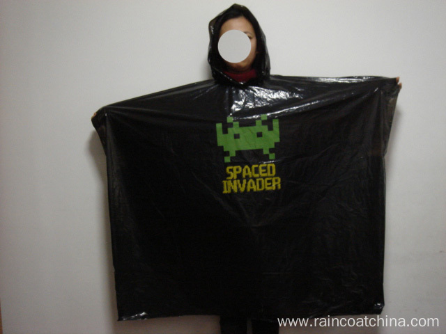 One Time Use Biodegradable Rain Poncho