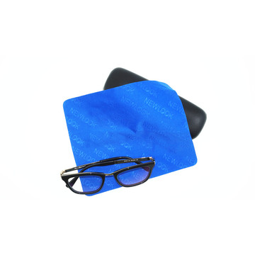 full size embossed microfiber cloth for eyewear cleaning
