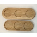 Oak wood breakfast tray