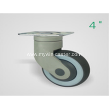 4 Inch Plate Swivel TPR PP Material Medical Caster