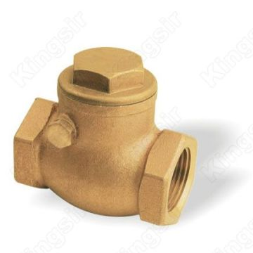 Reliable for Our Water Check Valves, Brass Sanitary Check Valves are Good Value for Money Industrial Usage Forged Brass Swing Check Valve supply to Romania Exporter