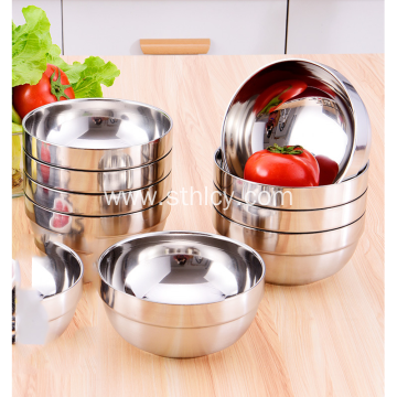 304 Stainless Steel Double Insulated White Gold Bowl