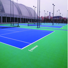 Reliable for PP Interlocking Court Tiles Anti-Slip ITF approved Outside Tennis Court Tile export to Germany Factories
