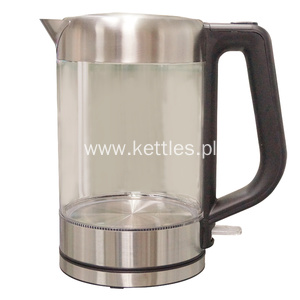 Factory For for Electric Cordless Glass Tea Kettle 1.8 L Glass Kettle Electric Glass Teapot export to Oman Manufacturers