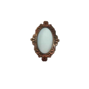 Light Extravagance Woodern Carving Frame Mirror