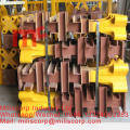Foundation foot for tower crane mast section L69c