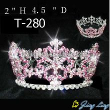 Pink Rhinestone Snowflake Christmas Princess Crown