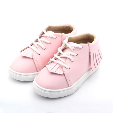 Pink Leather Moccasin Infant Shoes