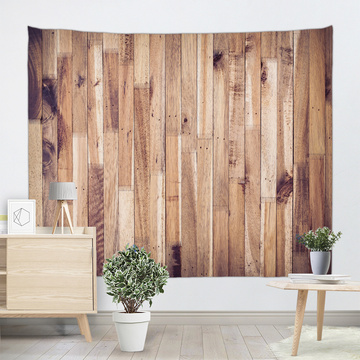Vintage Planks Tapestry Wall Hanging Vertical Brown Striped Wooden Board Wall Tapestry for Livingroom Bedroom Dorm Home Decor