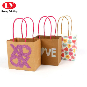 Recycling Custom Brown Kraft Gift Paper Bag