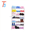 21 pair stackable metal shoe rack