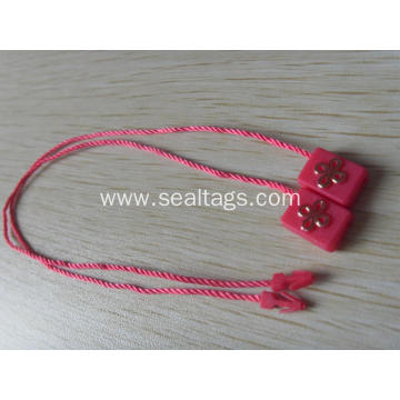 Rectangle shape plastic seal tag with string