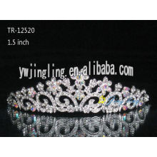 Rhinestone Crowns Flower Tiara TR-12520