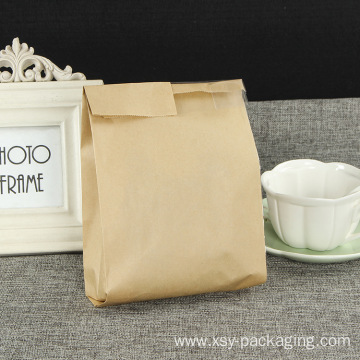 Bread paper bag with opening window