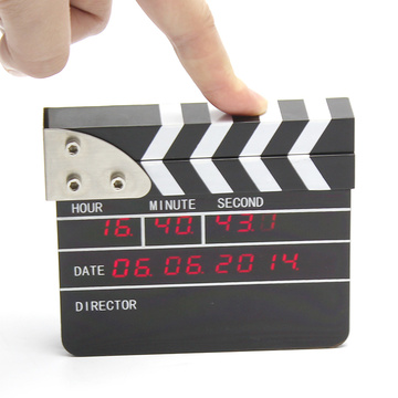 Mini Digital Movie Clapper Alarm Clock