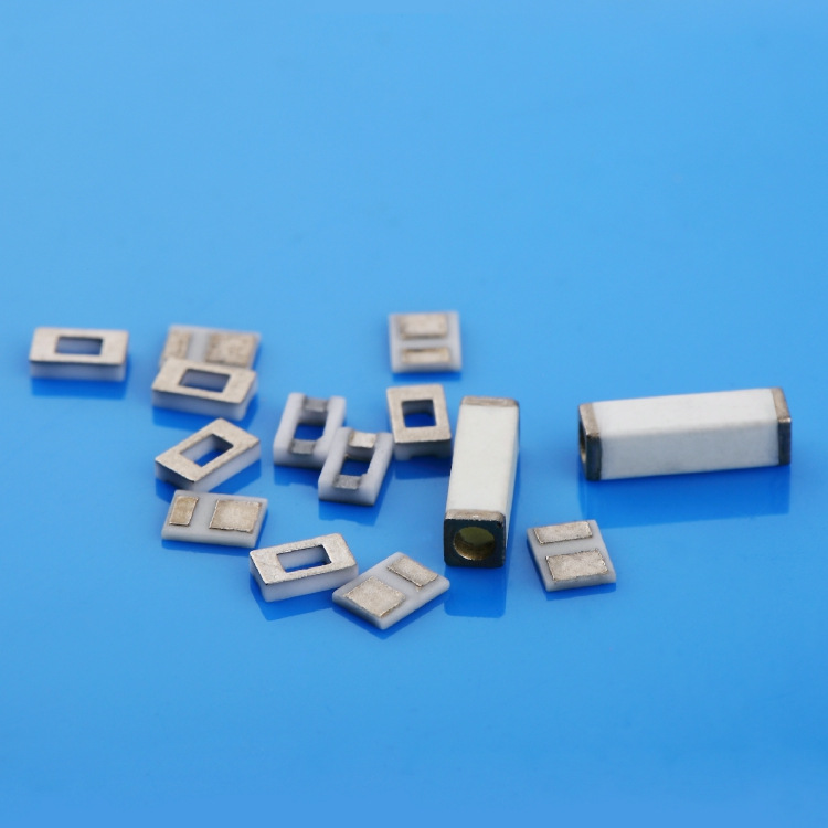 Metallized ceramic wafer