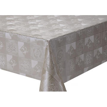 Solid Embossed Fabric Tablecloth Legged Table Covers