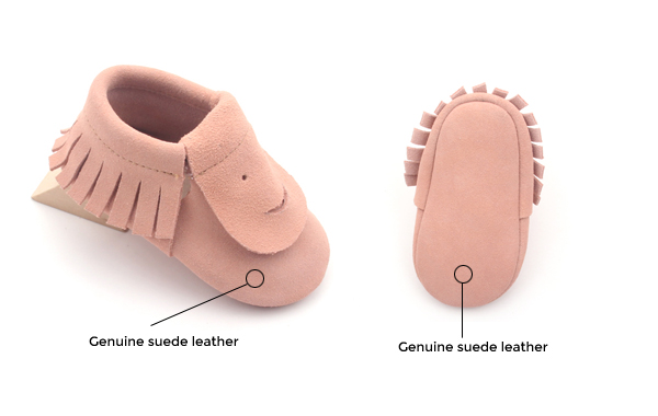 Funny Suede Baby Moccasins