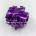 CNC Machined Aluminum Telescope Parts With Purple Anodized