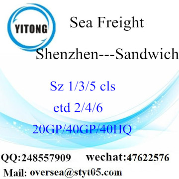 Shenzhen Port Sea Freight Shipping To Sandwich