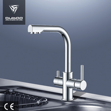 One of Hottest for Kitchen Mixer Faucet Single hole double handle kitchen faucet with filter export to Poland Factories