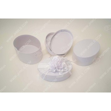 Ribbon Handmade Flower Wedding Gift Box