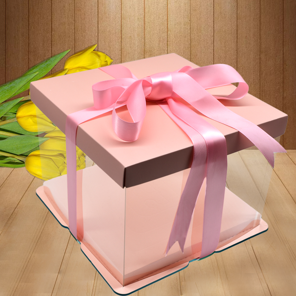 Birthday cake box transparent