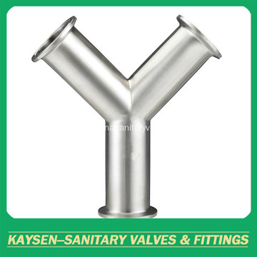 DIN Sanitary Y Type Clamp Tee