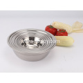201 Stainless Steel Salad Bowls Soup Basin