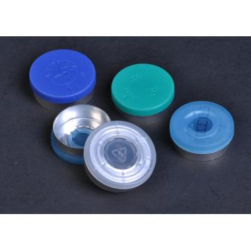 28mm aluminum and plastic cap for bottle