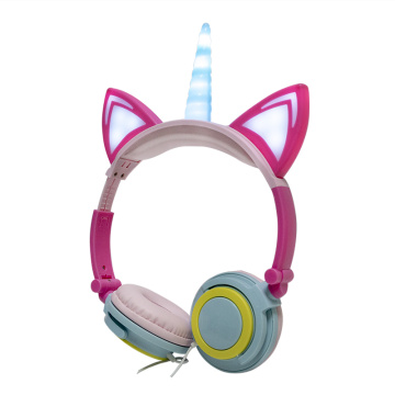 Fashionable lighting Spiral unicorn earphone & headphone