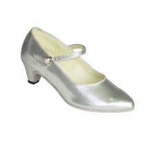 Hot sale reasonable price for Blue Pumps Dancing Shoes Silver ballroom shoes for girls supply to Cuba Supplier