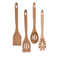 Oak wood kitchen utensil set