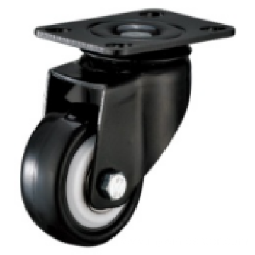 4 Inch Plate Swivel PVC Material Small Caster