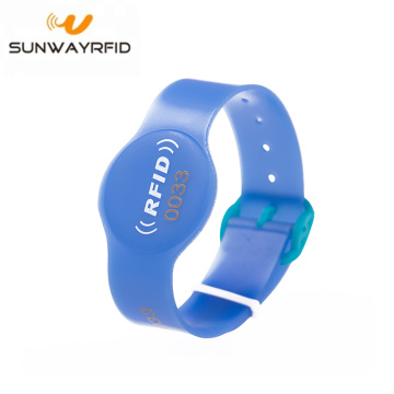Waterproof PVC Adjustable Rfid Wristband for Swimming Pool