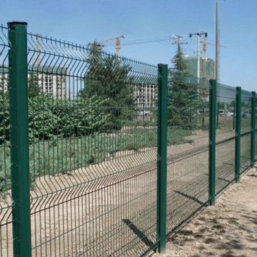curvy galvanized welded metal wire mesh fence
