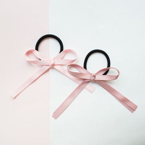 Retro Elegant Silk Ribbon Bowknot Hair Rope Hair Ornaments