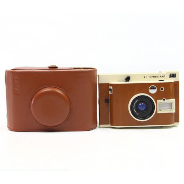 Classic Brown PU Leather Camera Bag